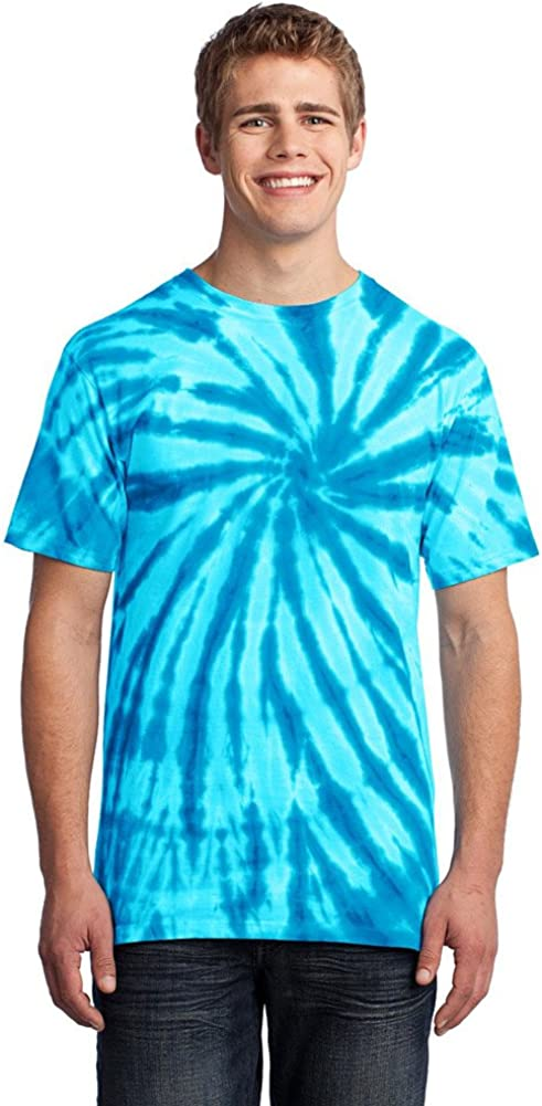 Port & Company Mens Essential Tie-Dye Tee, Small, Turquoise
