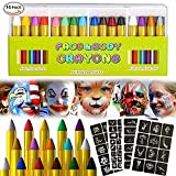 Face Painting, Matite Trucco, 16 Colori Face Paint, Colorare la Faccia Body Painting Kit per Bambini
