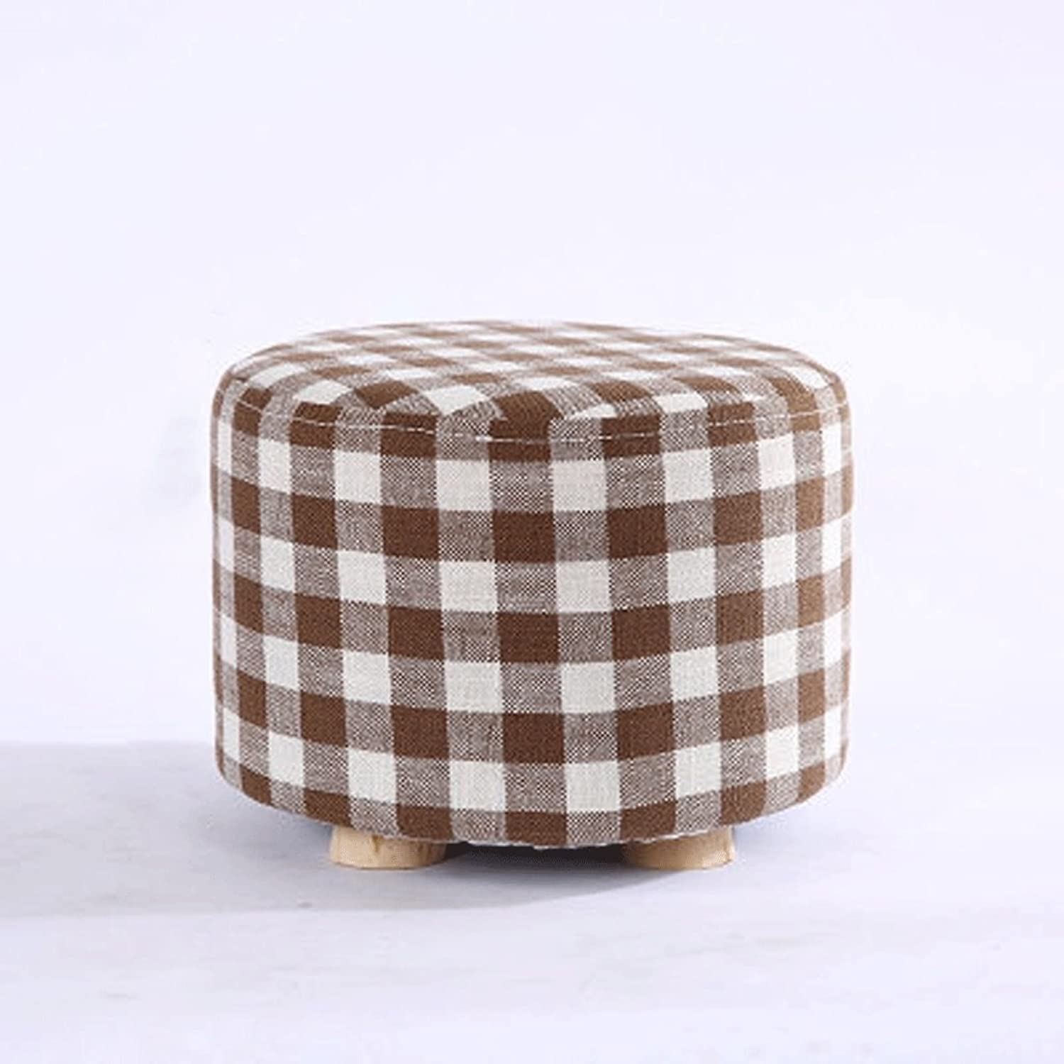 LXYFMS Small Stool Fashion Home Solid Wood Sofa Stool Creative Small Bench Wooden Bench (color   G)