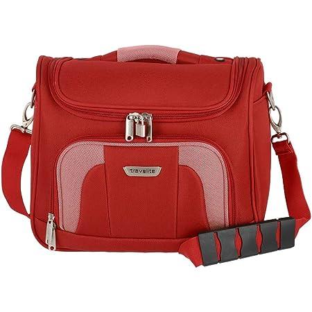 Travelite Handgepäck Kulturtasche mit Aufsteckfunktion, Gepäck Serie ORLANDO: Klassisches Weichgepäck Beautycase im zeitlosen Design, 098492-10, 19 Liter, 0,9 kg, rot