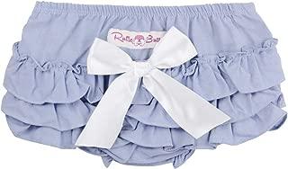 RuffleButts Baby/Toddler Girls Chambray Bloomer w/Bow