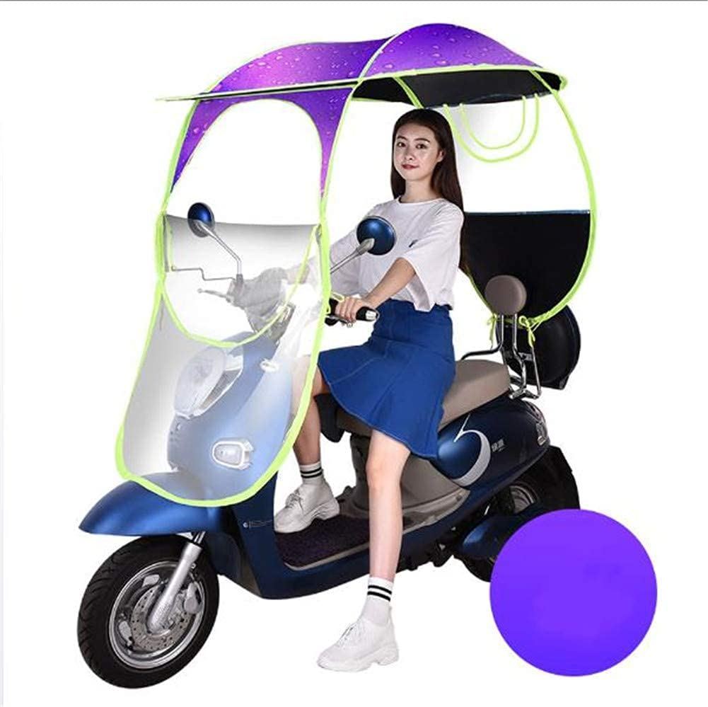 JJYY Universal Car Motor Scooter Umbrella Mobility Sun Shade Rain Cover Impermeable, Scooter Mobility Scooter Canopy, B