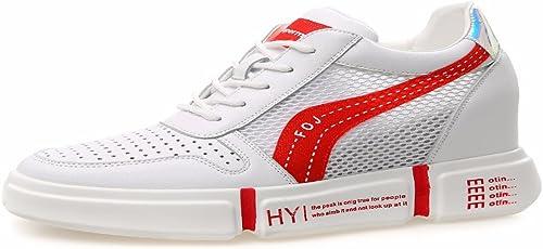 HBDLH Chaussures pour Femmes Les Chaussures De Sports D'été Et Les Occasionnels Et épais Plus Rouge Plus à L'Intérieur.
