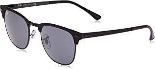 Rb3716 Clubmaster Metal Square Sunglasses