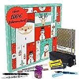 ONLINE Calendario de Adviento 2021, 'Girls for school' para niñas, idea de regalo para Adviento, para color y creatividad en el día a día, total 39 artículos de papelería de alta calidad