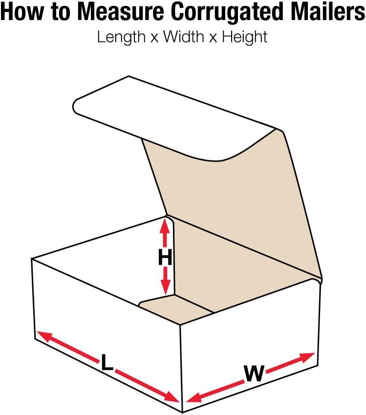 Fоur Расk Oyster White 6 X 4 X 2 M642 Aviditi Crush Proof Corrugated Mailer Bundle of 50