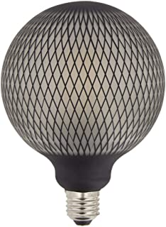 XANLITE – Bombilla LED decorativa de filamento G125 – Casquillo E27, 4 W Cons, 2700 K – aspecto de red negra – Bombilla estándar decorativa para habitación y habitación de vivir, luz blanca cálida
