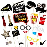 BESTOYARD Foto Requisiten Hollywood Stil Party Maske Party Dekoration Schnurrbart Birthday Party...