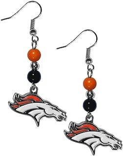 Siskiyou NFL Fan Bead Dangle Earrings