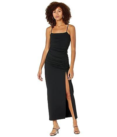 Susana Monaco String Rouched Slit Maxi Dress