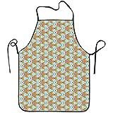 Eastlif Delantales Coloridos Peces Clipart Delantal para Cocina Barbacoa Barbacoa Cocina Jardinería Impermeable Durable y Gran Regalo Código Uniforme Traje para Hombres Mujeres Diseño Creativo Babero