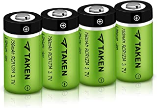 Arlo Batteries Rechargeable, CR123A 3.7V Rechargeable Lithium Battery for Arlo Wireless Cameras (VMC3030/VMK3200/VMS3330/3430/3530) (4 Pack)