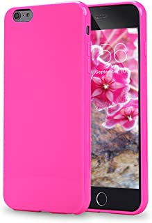 iPhone 6 Plus Case, iPhone 6s Plus Case, FGA Sugar Candy Cute Protective Slim Perfectly Fit Solid Color Soft Flexible TPU Gel Cover for iPhone 6 Plus, iPhone 6s Plus-5.5 inch (Hot Pink)