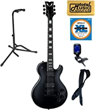 Dean TB STH BKS Thoroughbred Stealth Black Electric Guitar w/EMG's, Stand Bundle