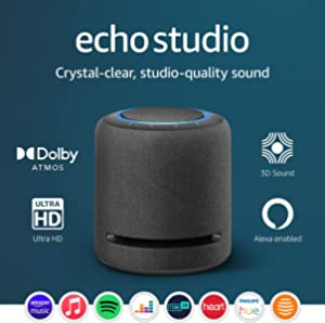 Echo Studio | High-fidelity smart speaker with 3D audio and Alexa