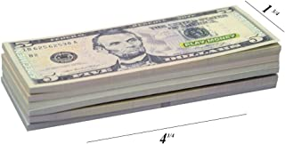KIDSTHRILL US Play Money One-Sided 20 Bills of $1, $5, $10, $20, $50, & $100 for..