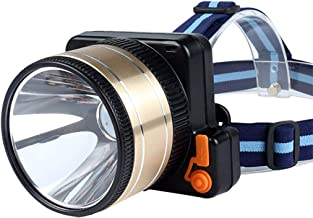 XUANLAN LED Glare Long-Range Outdoor Waterproof Charging High-Power Induction Headlights, Outdoor Riding Night Fishing Headlights (Color : White Light, Size : Large)