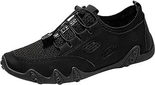 FNKDOR Leder Mesh Atmungsaktiv Laufschuhe Herren Sneaker Leicht Sportschuhe Outdoor Turnschuhe