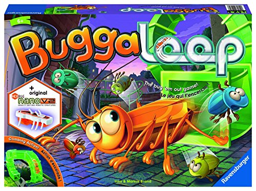 Ravensburger Buggaloop Board Game for Age 6 & Up - an Exciting Game Featuring Real-Time Moving Hexbug