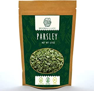 Spices Village Dried Parsley Flakes, Dry Flat Leaf Italian Parsley Flakes, Fresh Parsley Flakes for Tea or Sauce, Kosher G...