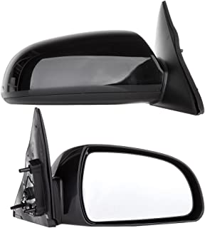 SCITOO Pair of Left Right Black Side View Power Heated Mirrors fit 06-10 Hyundai Sonata Rearview Mirrors (Pair Set)