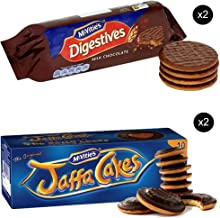 McVities Jaffa Cakes Two Boxes + McVities Chocolate Digestive Biscuits Two Packets - British Chocolate Cookies