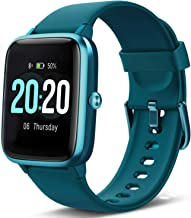 Lintelek Smart Watch, Full Touch Screen Smartwatch, 1.3 Inch Fitness Tracker with HR Monitor, Sleep Tracker, Stopwatch, IP68 Waterproof Fitness Watch Compatible with iOS, Android for Men, Women