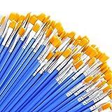 AROIC Paint Brushes Set ,120 pcs Nylon Hair Brushes for Acrylic Oil Watercolor Artist Professional Painting Kits