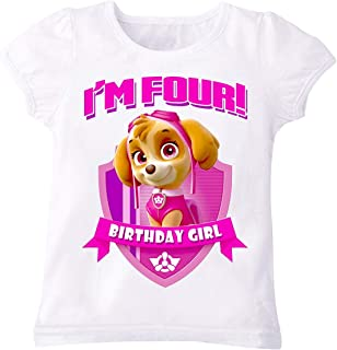 Paw Patrol Skye T-Shirt For Girls - 4 To 5 Years, White