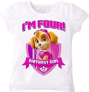 Paw Patrol Skye T-Shirt For Girls - 4 To 5 Years, White