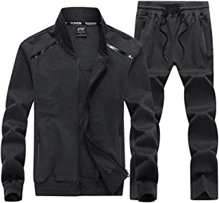 6a1264896e8 Sun Lorence Men s All-Round Champion Leisure Sports Sweat Suit Full Zip  Tracksuit Set