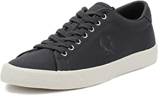 Fred Perry Mens Graphite Grey Underspin Canvas Trainers-UK 6,B4152