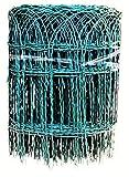 Profishop-Bremen Ziergeflecht Zierzaun Ziergitter Gartengitter Gartenzaun Maschendrahtzaun 40 cm hoch 25 m lang grün PVC beschichtet Beetumrandung
