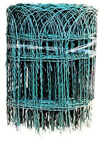 Profishop-Bremen Beetzaun Zierzaun Ziergitter Gartengitter Gartenzaun Maschendrahtzaun 40 cm hoch 25 m lang grün PVC beschichtet Beetumrandung Ziergeflecht