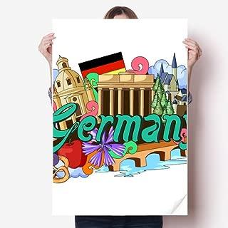 DIYthinker New Swan Stone Castle Beer Germany Graffiti Sticker Poster Decal 31x22