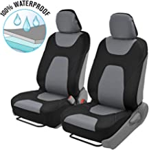 Motor Trend OS-274-GR SeatGo Pro 3 Layer Waterproof Car Seat Covers-Modern Black/Gray Side-Less Quick Install Auto Protection