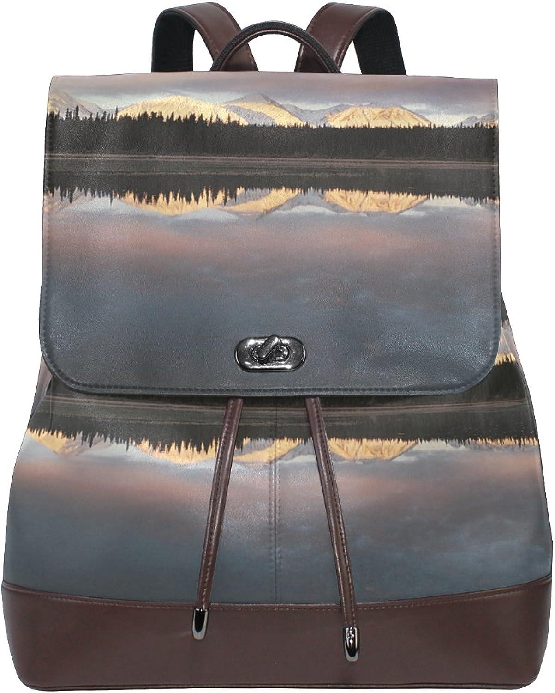 LEEZONE fashion Women's Shoulders Bag with Lake Water Printing