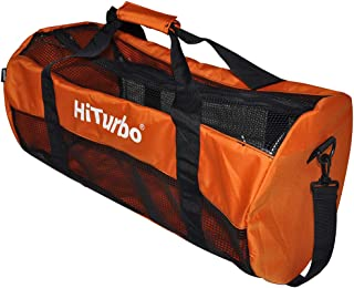 Hiturbo Mesh Duffel Bag-Dive Travel Duffle Bags for Scuba Diving and Snorkeling Beach Gear & Equipment
