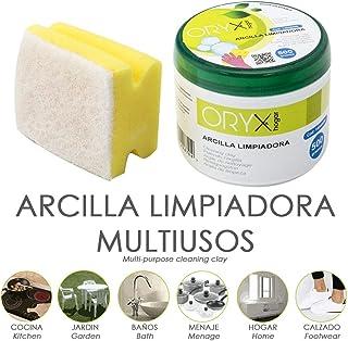 ORYX 14040090 Arcilla Limpiadora Multiusos Tarro 500 Gramos, Claro