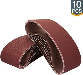 "POWERTEC 110470 3 x 21"" Sanding Belts | 60 Grit Aluminum Oxide Sanding Belt |.."