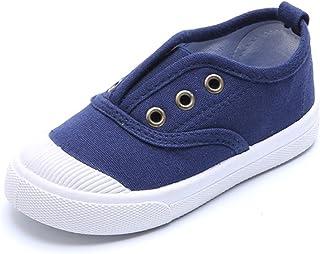 DADAWEN Boy's Girl's Canvas Light Weight Slip-On Sneakers Running Shoe