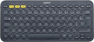 Logitech K380 Tastiera Bluetooth, Layout Francese Azerty, Nero