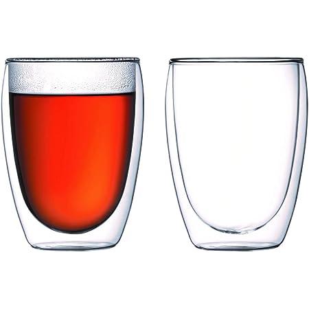 Bodum Pavina Glass, Double-Wall Insulate Glass, Clear, 12 Ounces Each (Set of 2)
