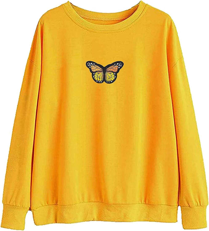 UOCUFY Womens Hoodies, Women Girls Cute Printed Long Sleeve Sweaters Casual Loose Pullover Tops Sweatshirts