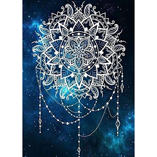 RAILONCH DIY 5D Diamante Pittura Fiori di ciliegio 50cm Diamond Painting Full Cristallo Strass Ricamo Immagini Soggiorno Decorazione Parete Adesivo 100