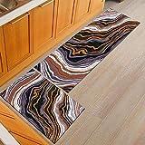 OPLJ Tapis de Salle de Bain Moderne Lavable Tapis de Cuisine antidérapant Tapis de Porte Table à Manger Tapis de Sol décoration A19 40x60 cm