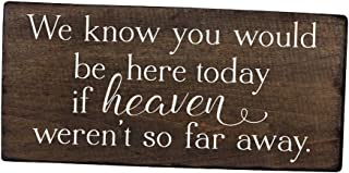 Elegant Signs We Know You Would be here Today Sign if Heaven Wasn't so far Away Sign