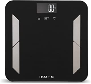 comprar comparacion IKOHS PRO WELLNESS - Báscula de Baño, Pantalla LCD, 180 kg, Peso Corporal, Memoriza hasta 10 Usuarios, Medición de Alta Pr...