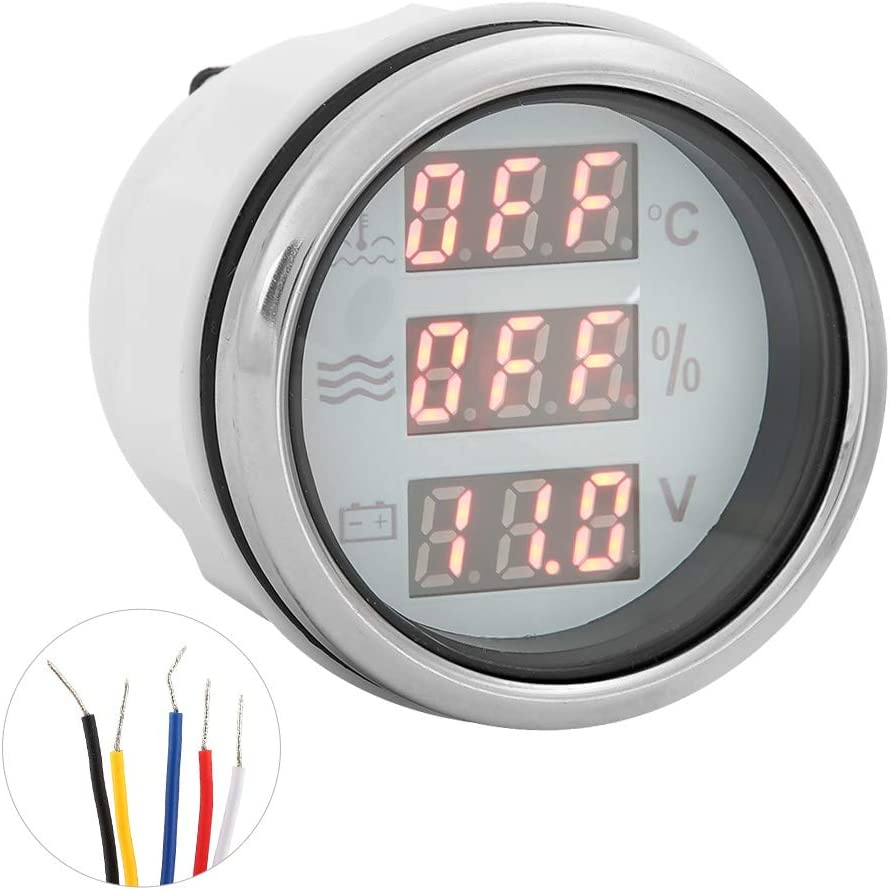 KIMISS Oakland Mall 52mm 2in 3‑in‑1 Water Voltage Japan Maker New Temperature Gauge