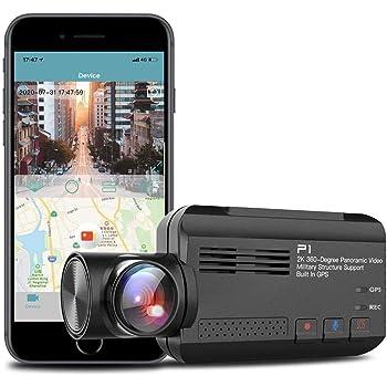 【年末ビックセール】【進化版】ドライブレコーダー 360度 全方位 広角ドラレコ WiFi搭載 + GPS機能 2160P Full HD 500万画素 G-センサー SONYセンサ 常時録画 駐車監視 WDR機能 (ドライブレコーダー 前後カメラ)